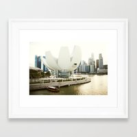 singapore Framed Art Prints featuring Singapore by Jeremiah Wilson