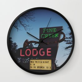 Pine Creek Lodge Wall Clock