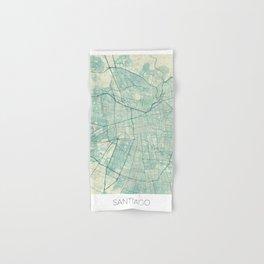 Santiago Map Blue Vintage Hand & Bath Towel