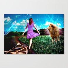 Rivers, Fields & Lions Canvas Print