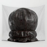 leather Wall Tapestries featuring Minimal Leather by Jesus FC