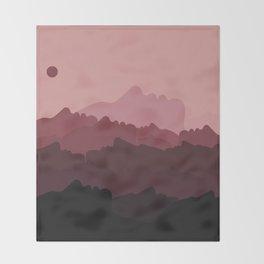Love Mountain Range Throw Blanket
