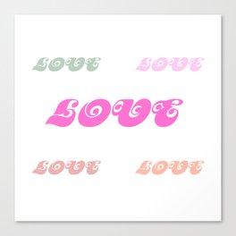 Love Words (pastel) Canvas Print