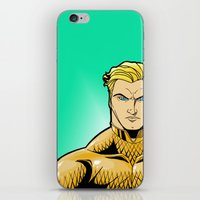 aquaman iPhone & iPod Skins featuring Aquaman by J. J.