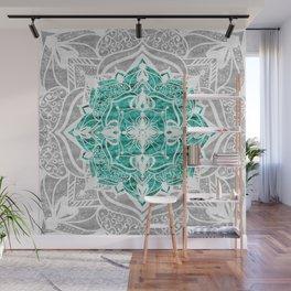 Oriental Nights Aqua Green Wall Mural