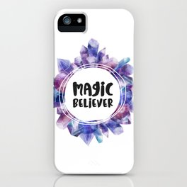 Magic believer - white iPhone Case