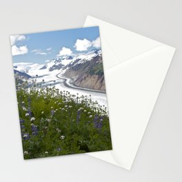 Glacial Flowers Stationery Cards