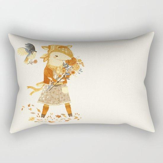 Dakota the Daisy Deer Rectangular Pillow