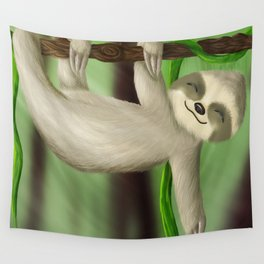Just slothin' Wall Tapestry
