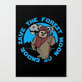Save the forest moon Canvas Print
