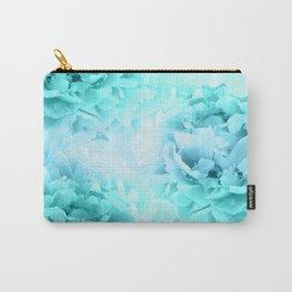 Aqua Blue Ocean Peonies Dream #1 #floral #decor #art #society6 Carry-All Pouch