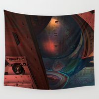 sci fi Wall Tapestries featuring Sci-Fi by Lyle Hatch