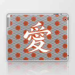 Eastern Love POPPY RED / Japanese character for love Laptop & iPad Skin