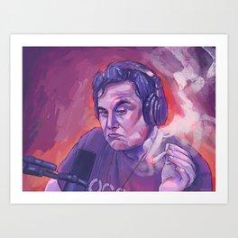 Elon Musk Art Print
