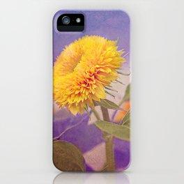 Vintage sunflower iPhone Case