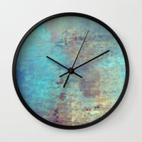 cracked Wall Clocks featuring Cracked by Jessielee