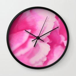 Hot Pink Rose Petals Wall Clock