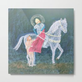St. Martin and the Beggar Metal Print