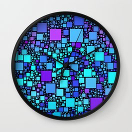 Post It Blue Wall Clock