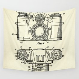 Photographic Camera with coupled exposure meter-1962 Wall Tapestry