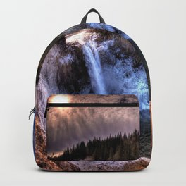 Waterfall from sky view Backpack