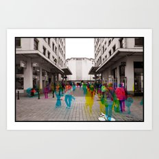 Sequential Serie : The Maket Place Art Print