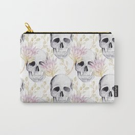 Floral skull glam Carry-All Pouch