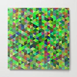 Cute colorful green mosaic Metal Print