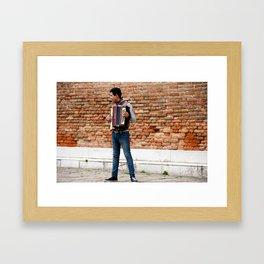 The Accordionist Framed Art Print