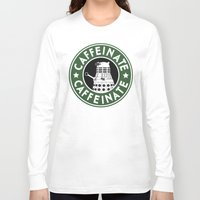 dalek Long Sleeve T-shirts featuring Dalek Caffeinate by ThePhantomMoon