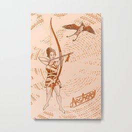 Archer girl Metal Print