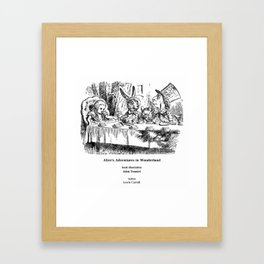"John Tenniel, "" Alice's Adventures in Wonderland "" Framed Art Print"