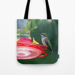 Perched Hummingbird Tote Bag