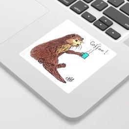 Otter & coffee! Sticker
