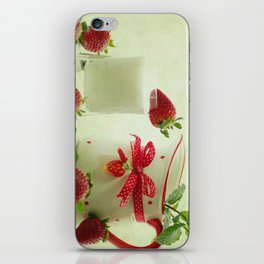 Country-style still life of fresh fruit iPhone Skin