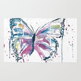 Vibrant Butterfly Rug