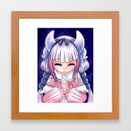 Young Dragon Girl Framed Art Print