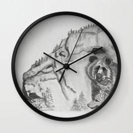 The Fairytale about the Wolf, Bear, and the Lion Wall Clock