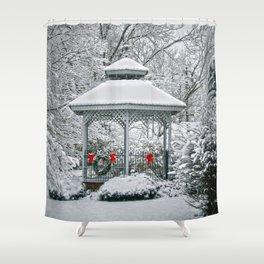 Gazebo in the Snow Shower Curtain