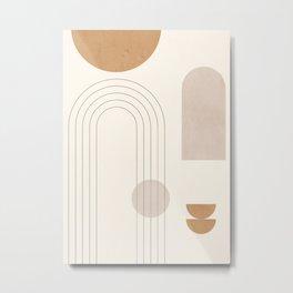 Minimal Geometric 102 Metal Print