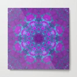 Pink, Purple, and Blue Pixels Metal Print