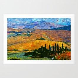 The Rolling Hills of Tuscany Art Print