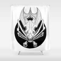 queen Shower Curtains featuring Queen  by Mathilde Fontano