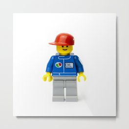 Cool Minifig guy with a red hat Metal Print