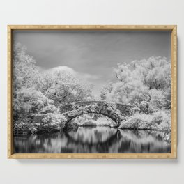Gapstow Bridge, Central Park in Infrared Serving Tray