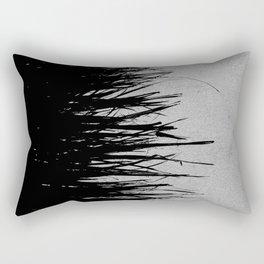 Concrete Fringe Black on Side Rectangular Pillow