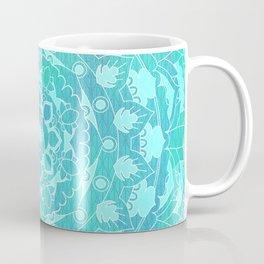 Refreshing Ocean Green Mandala Pattern Coffee Mug