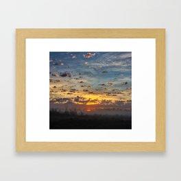San Joaquin Sunrise Framed Art Print