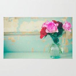 Retro Roses Rug