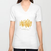 french fries V-neck T-shirts featuring French Fries #glamfood by Silbox